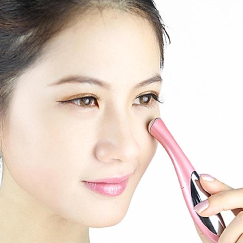 Mini Portable Anti Aging Wrinkle Dark Eye Circle Remover Pen Handheld Ion Vibration Eye Massager Face Skin Firming Care Tool in Face Skin Care Tools from Beauty Health