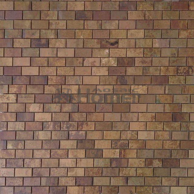 Free Shipping Bronze Mixed Steel Mosaic Tiles Wall Covering Br Metal Kitchen Backsplash Bathroom Shower
