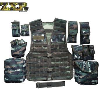 169f87412c1 Разгрузка Мужская многокарманная тактическая камуфляжная сетка жилет  камуфляж тактический жилет военная боевая униформа военный закон сп.