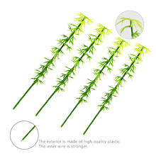 Teraysun 50pcs artificail model bamboo 15cm mini scale for scenery
