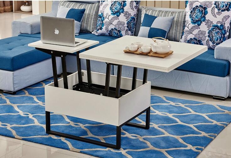 Us 424 15 Off Multi Functional Lifting Table Dual Use Folding Telescopic Storage Small Tea In Coffee Tables From Furniture On