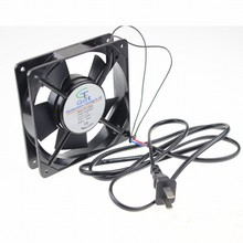 1 Piece 120x120x25mm Axial Flow Cooler 12cm 120MM 220V 240v 2pin with Plug AC Cooling Fan все цены