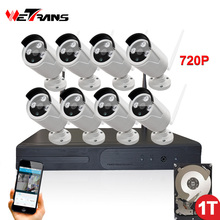 Security Camera System Wireless 8CH NVR Plug Play P2P HD 720P 20m Night Vision Waterproof Outdoor CCTV Camera Wifi System
