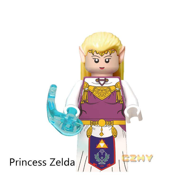 Pop Figure The Legend of Zelda Gioco Principessa Zelda Link Building Blocks Piccole Bambole Giocattoli Per Il Regalo Dei Bambini WM6053
