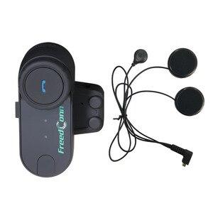 Image 3 - FreedConn Intercomunicador T COM original para casco de motocicleta, auriculares y micrófono blando para máscara completa, con bluetooth y radio FM, 2 uds.