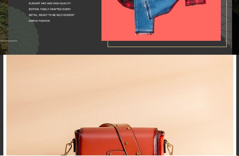 Vintage Real Leather Wide shoulder strap Handbag premium quality fashion genuine leather Shoulder Bags of Famous Brand (9)