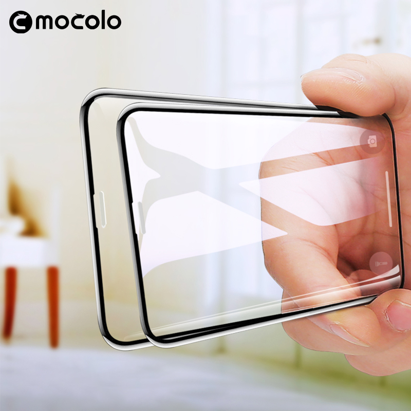 Mocolo 3D Curvo Vidro Prémio para o iphone XS MAX XR Vidro Temperado Filme Protetor de Tela de Cobertura Completa para o iphone Completo cola para XS