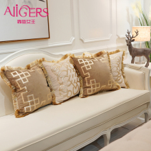 Avigers Embroidery Velvet Tassel Cushion Cover Luxury Pillow Case Geometry Home Decorative Sofa Chair Throw