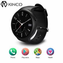 """KINCO Smart Uhr Android 5.1 1 GB + 16 GB 1,39 """"3G WiFi GPS Pulsmesser Karte SmartWatch uhr Telefon Für/IOS Android/MTK6580"""