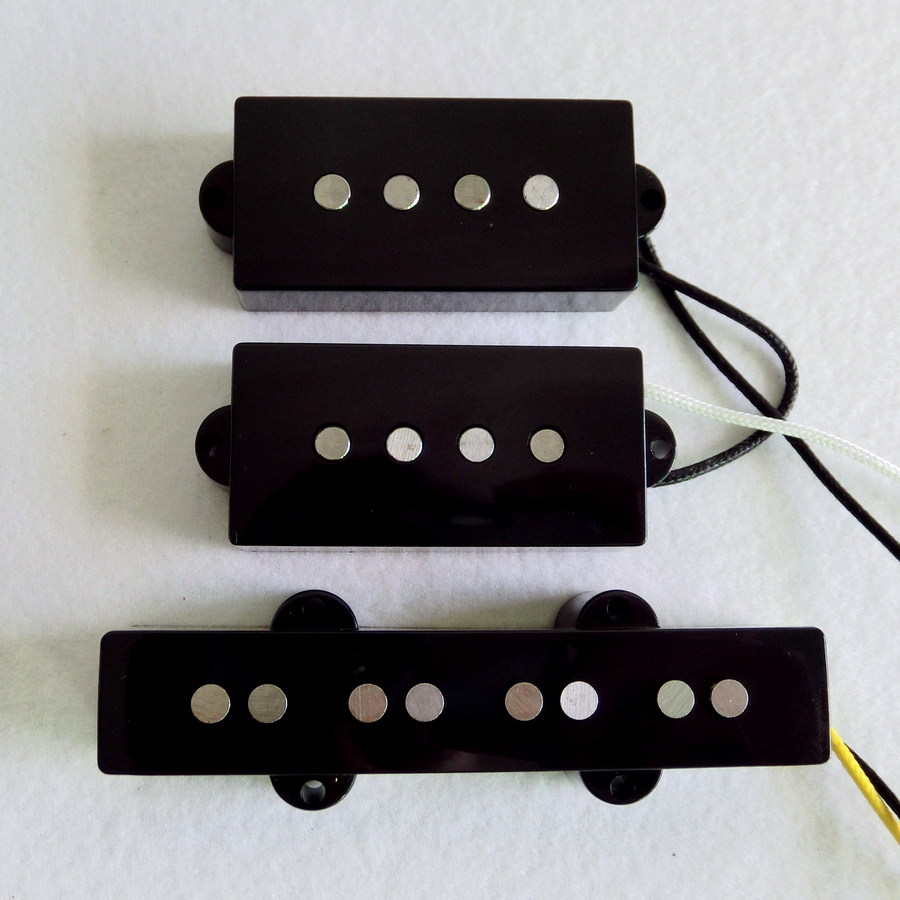 Free Shipping guitar parts 1Set 60 s Vintage Alnico 5 rod fiber bobbin 4 string P