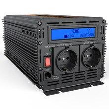 DC 24 В к AC 220 2000 Вт Мощность инвертор с ЖК дисплей изменение синусоида инвертор внешний преобразователь