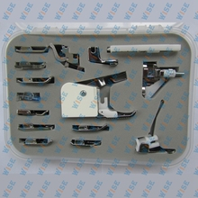 HOME SEWING MACHINE 15 PCS. FEET SET LOW OR HIGH SHANK SINGER BROTHER # CY-015