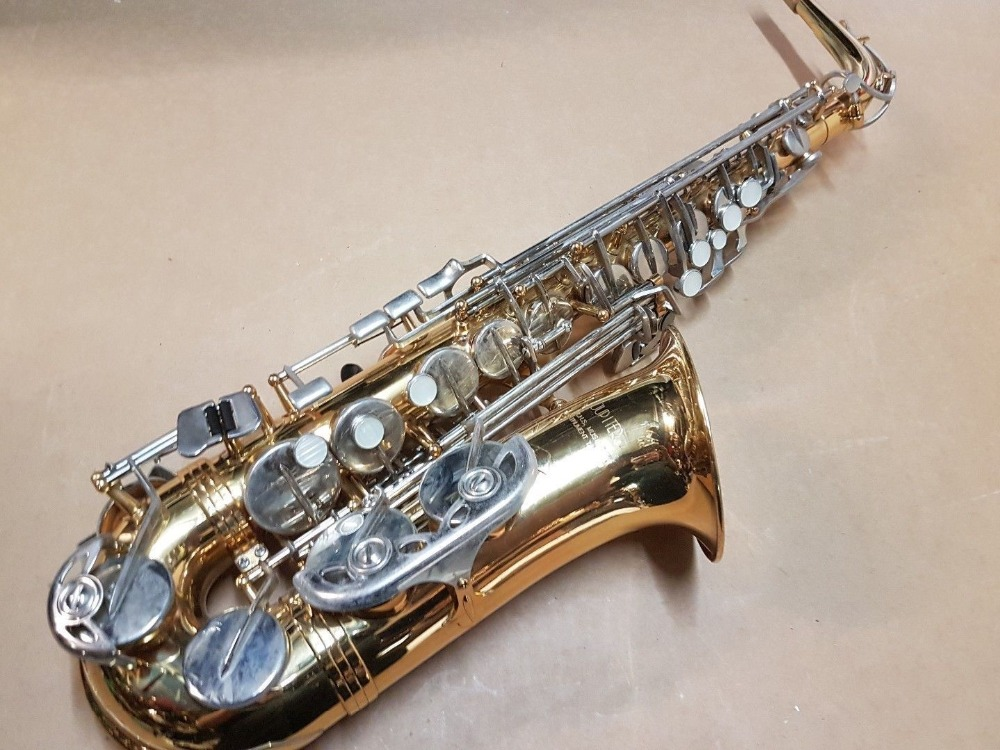New JUPITER JAS 669-667 Brand Musical Instrument Alto Eb Tune Saxophone Gold Lacquer Body Silver Plated Key Sax With Case alto saxophone 54 eb flat alto sax top musical instrument sax wear resistant black nickel plated gold process sax page 1