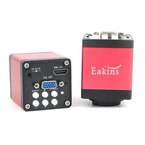 Image 4 - 1080p digital hdmi vga microscópio industrial conjuntos de câmera 130x c montagem lente + led anel luz solda telefone pcb ic reparação ferramentas