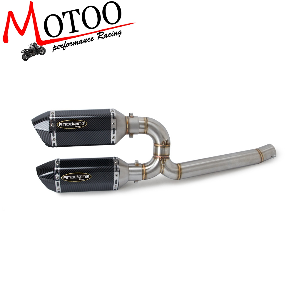 Motorcycle Full Exhaust System Middle Pipe Link Connect Motorcycle Accessories For Yamaha FZ6 FZ6 N FZ6S