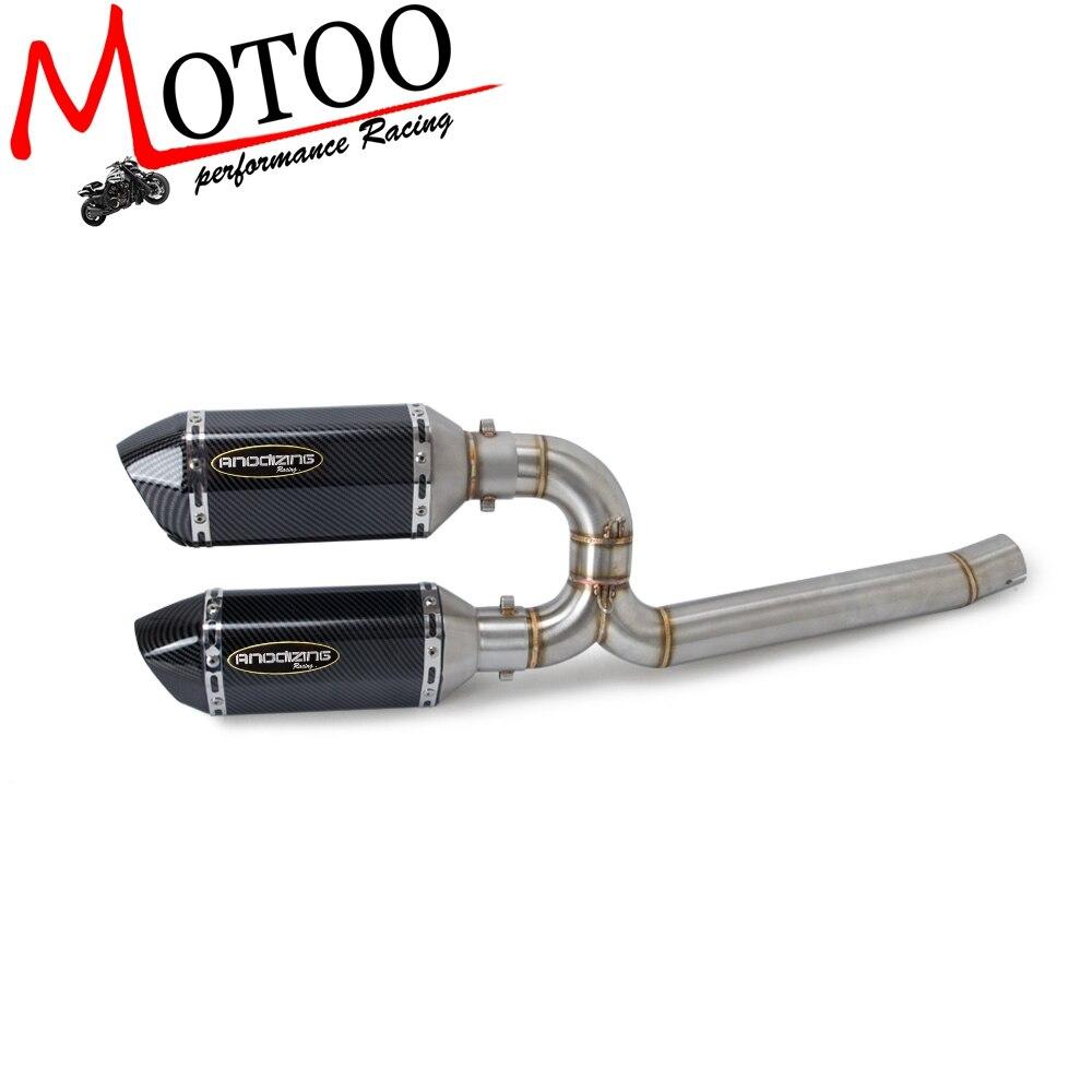 Moto Completa del Sistema di Scarico Centrale Tubo di Collegamento Collegare Accessori Moto Per Yamaha FZ6 FZ6-N FZ6S 2004-2009Moto Completa del Sistema di Scarico Centrale Tubo di Collegamento Collegare Accessori Moto Per Yamaha FZ6 FZ6-N FZ6S 2004-2009