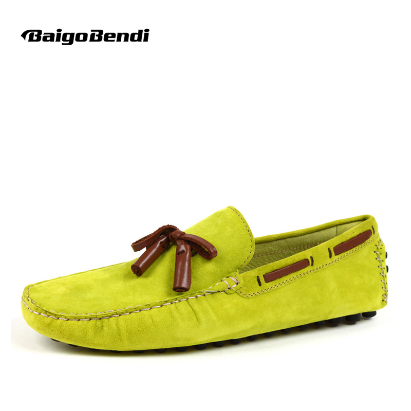 US 6 12 Sky Blue Suede Leather Casual Slip On tassel Driving Loafer fashion mens boat shoes
