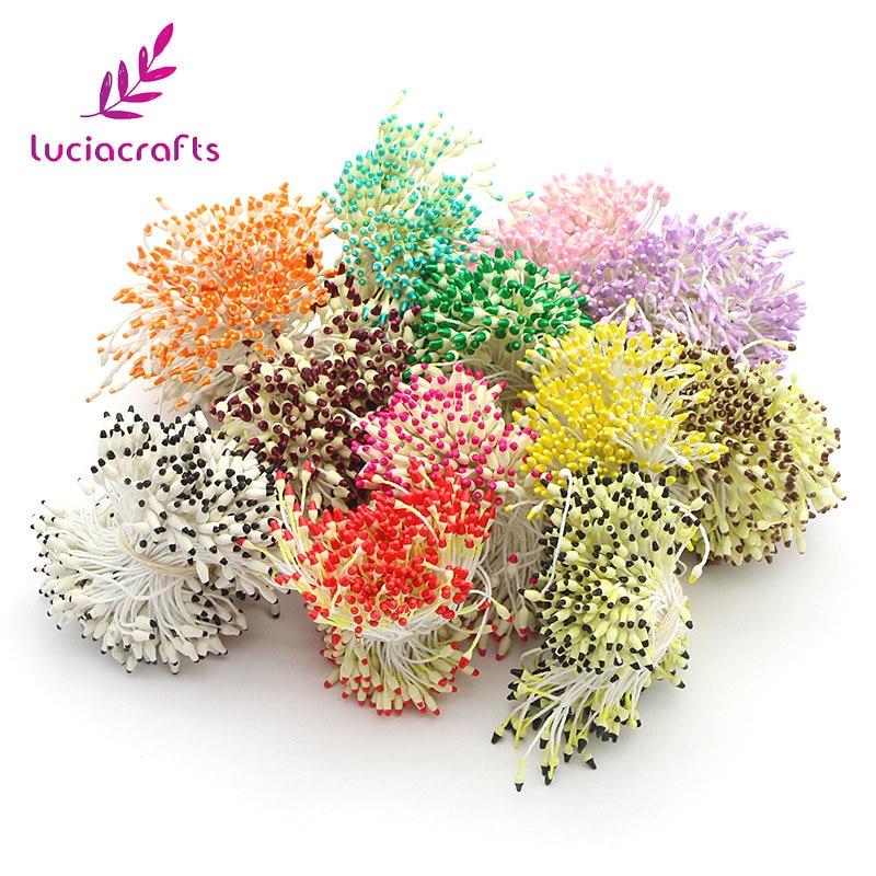Lucia ремесла 60 мм Мульти вариантов цветов Совет пестик тычинка цветка тычинки украшения торта двуглавый тычинки 288 шт. 11040301 (288)