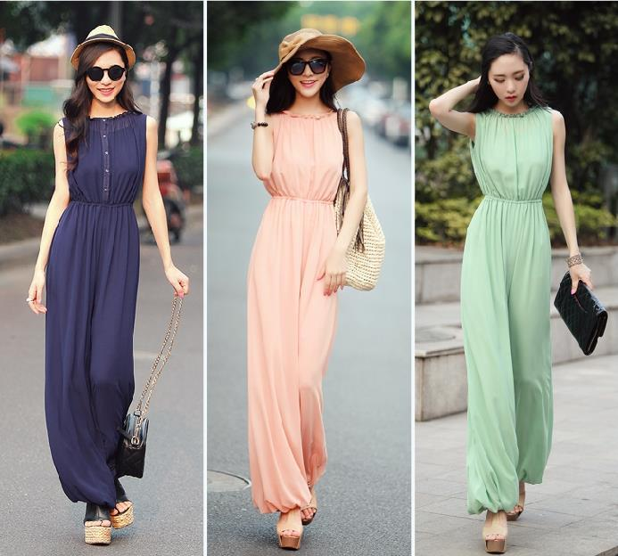 2015 Summer Ladies Casual Office Work Jumpsuits Women Sexy Beach