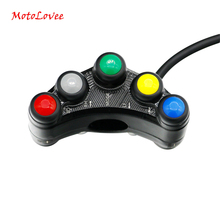 MotoLovee Motorcycle Switch Motorbike Handlebar Switches Headlight Indicator Horn Aluminum Universal Scooter Multifunction DIY