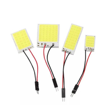 Wired-Lamp Plate-Light 48SMD Car-Interior Roof COB Ce 16 24-36 3-Adapters Festoon BA9S