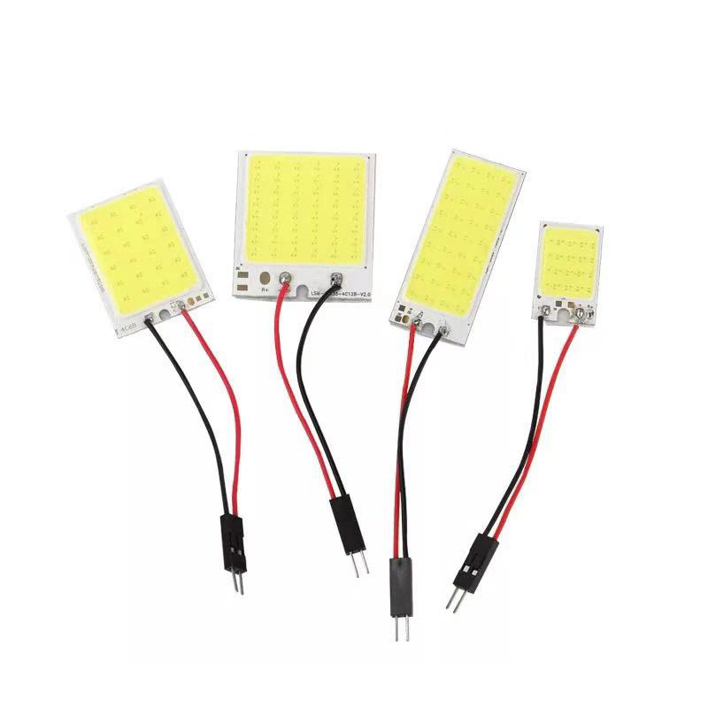 COB <font><b>16</b></font> 24 36 48SMD <font><b>T10</b></font> BA9S Festoon Dome 3 Adapters <font><b>LED</b></font> Light Car Interior Reading Plate Light Roof Ceiling Interior Wired Lamp image