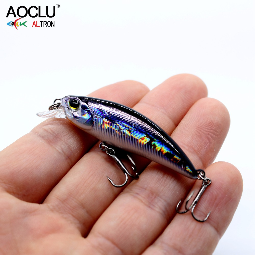 AOCLU wobblers Jerkbait 8 Colors 5cm 4.0g Hard Bait Small Minnow Crank Fishing lures Bass Fresh Salt water tackle sinking lure встраиваемый светильник paulmann premium line drill 92521