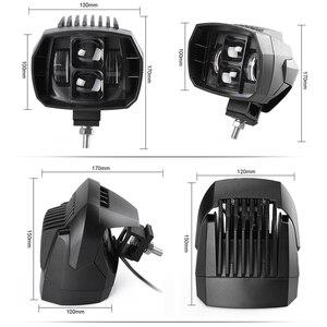 Image 2 - 2 pces 5 polegada 35w led luz de trabalho alta baixa feixe 12v 4x4 offroad barco caminhão suv atv motocicleta farol para jeep 24v luzes de condução