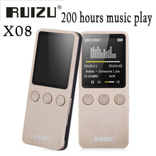 RUIZU X08 Flac Lossless Hifi Digital Audio 1.8 inch Screen Mp3 Music Player 8GB Headphone Speaker Radio FM Support TF Micro SD(China)