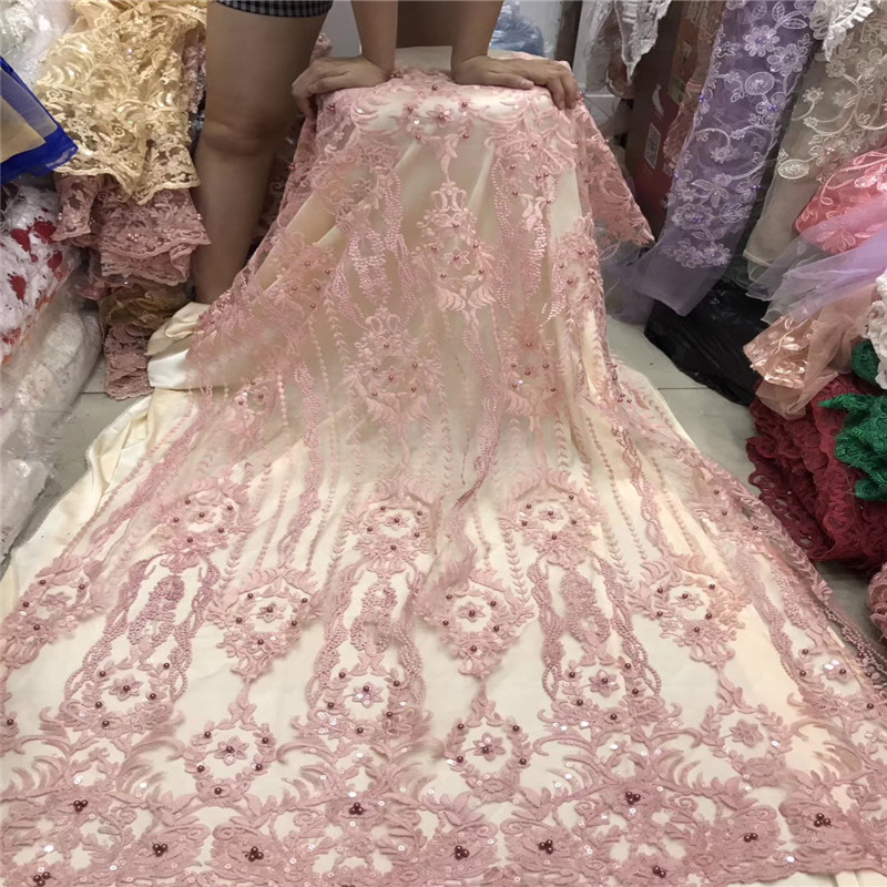 3d 꽃과 구슬 장식 조각이있는 아프리카 레이스 원단 2018 최신 핑크 레이스 원단 결혼식을위한 고품질 3d 레이스 원단 h1178-에서레이스부터 홈 & 가든 의  그룹 1
