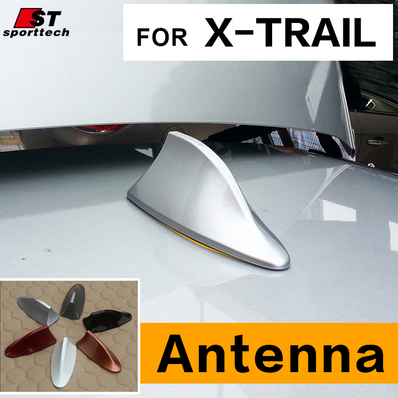 Car Styling Car Antenna Antena FM Antenna Covers For Nissan X-Trail Rogue Antenne Voiture Shark Fin Roof Radio Aerial For Nissan frp fiber glass car styling hood bonnet lip chin valance fin add on tuning parts for nissan skyline r32 gtr gts