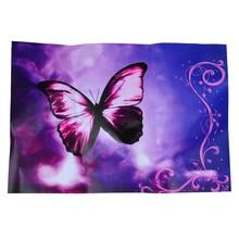 Purple Butterfly Flower Swirl Decorative Sticker Decal for 14 Laptop PC
