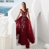 H&S Bridal Sleeveless Evening Gown Long Elegant Women Formal Dresses 2 Colors Evening Dress