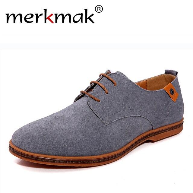 Новый 2016 Мода Мужчины Обувь Замши Кожа Повседневная Плоские Туфли, босоножки, мужские Квартиры для Мужчин Резиновая Подошва вождение Обувь Обувь