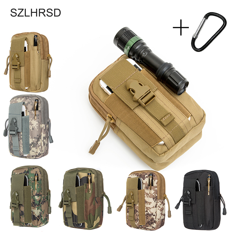 SZLHRSD Universal Outdoor Tactical Military Waist Phone Bag Pouch Case for Caterpillar Cat S41 Doopro P1 <font><b>Pro</b></font> P2 <font><b>Pro</b></font> <font><b>P3</b></font> P5 <font><b>Pro</b></font> image