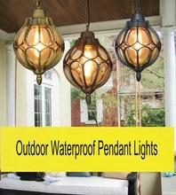 Artpad Classic Outdoor Hanging Lamp AC110V-220V Villa Balcony Courtyard Pavilion E27 LED Waterproof Pendant Lights Fixtures
