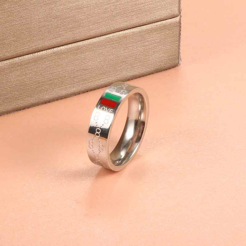 Stainless Steel Rings Gold Color Round Titanium Ring Jewelry Men Wedding Promise Rings for Female Women Party Gifts Engagement