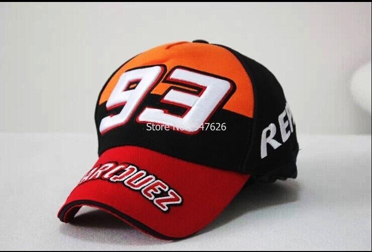 2925c8d9db53d Nueva sport F1 Moto GP Marc Marquez 93 repsol algodón gorra de camionero  sombrero Gorra de Béisbol Sombrero de Color Naranja negro en Disfraces  fiestas ...