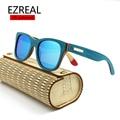 EZREAL polarizada Óculos De Sol Dos Homens DE MADEIRA de Madeira de bambu óculos de Sol Das Mulheres Designer De Marca Original Óculos oculos de sol masculino