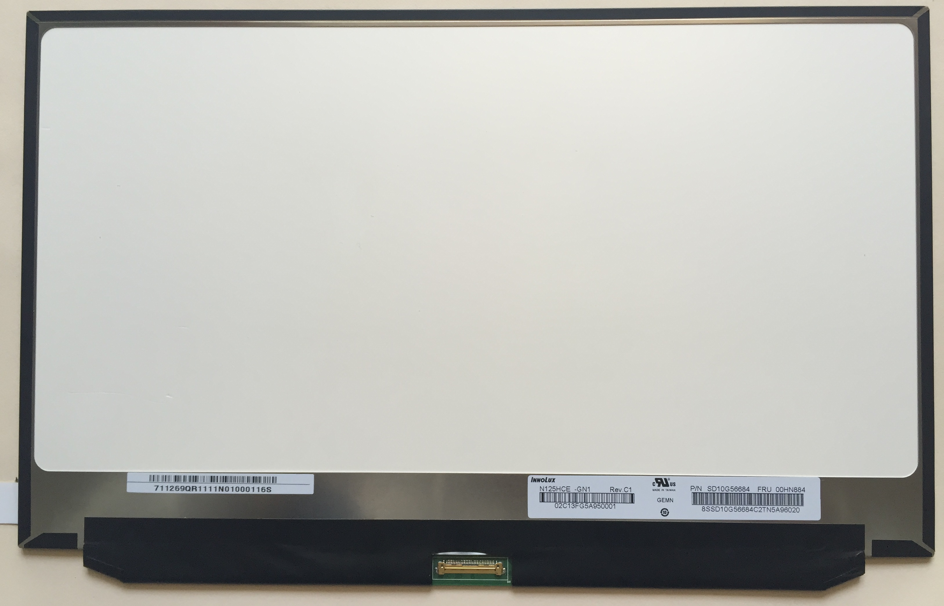 12.5 LED LCD Screen N125HCE-GN1 For Lenovo thinkpad X260 00NY418 FHD 1080P Slim neworig keyboard bezel palmrest cover lenovo thinkpad t540p w54 touchpad without fingerprint 04x5544