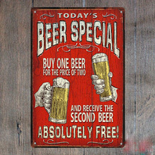 Keep calm and drink free special cheers beer coffee Bar sign Tin Plate Sign wall Room man cave decor Decoration Art Poster metal