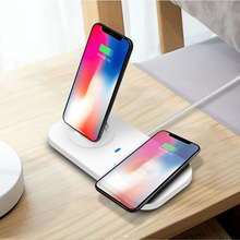 Universal 3 in 1 Mobile Phone 5V/2A Wireless Charger Desktop Stand Holder Bracket with Charging Base for Android IOS