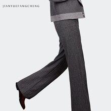 купить Gray Trousers Women High Waist Wide Leg Pants Plus Size Streetwear Thick Winter Pantalon Women Long Pants Wool Ladies Pants 2018 по цене 2833.08 рублей