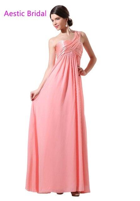 f7e4c45daf Robe Demoiselle D Honneur Coral One Shoulder Chiffon Long Bridesmaid Dress  With Empire Waist Marsala