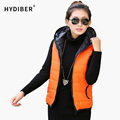 Spring 2017 Fashion Thickening Outerwear Hooded Patterns Casual Cotton Women Vest Warm Jacket Motorcycle Vest