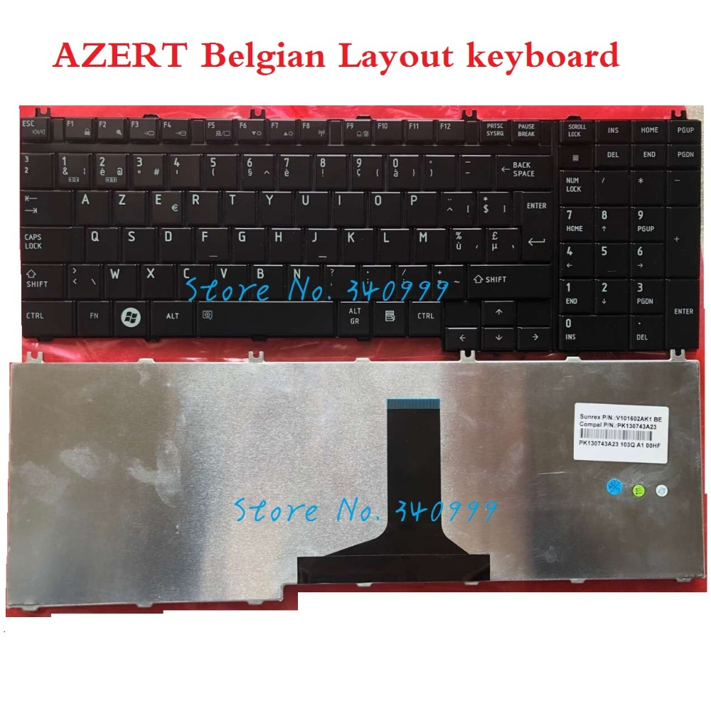 keyboard for Toshiba Satellite A500 A505 A505D L500 L550 L550D L350 L350D L355 P300 L500D P305 P500 P505 Belgium BE|Replacement Keyboards|Computer & Office - title=