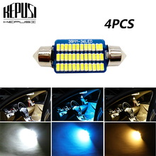 4X Car led Light Canbus C5W Festoon Lamp 12V Interior Dome Reading Bulb For Honda Acura Spirior City Stream Fit Accord Civic