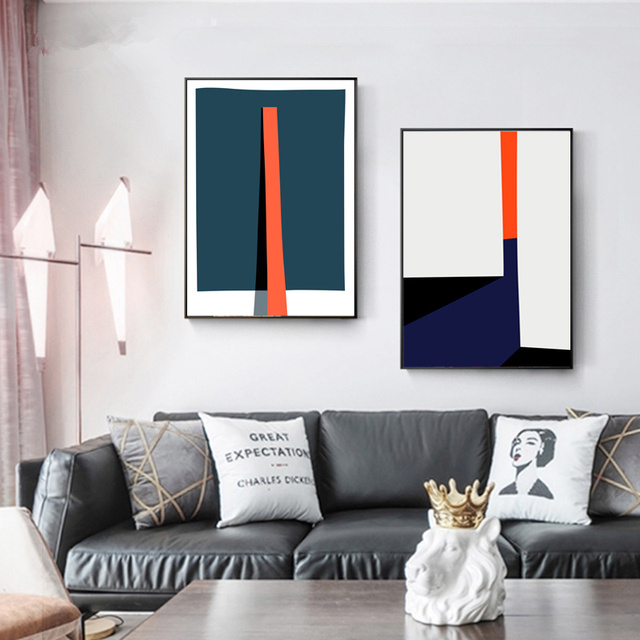 Modern Abstract Geometric Colorful Prints Poster Nordic Canvas Paintings 1