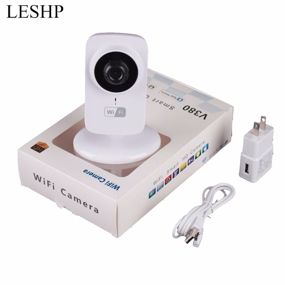 Mini IP WIFI Camera Home Safety Two-way Audio Support TF Card CCTV Security Camera Surveillance Monitor V380-S1 smart mini camera wifi support two way audio night vision sd card onvif motion detect camera with wifi for home security