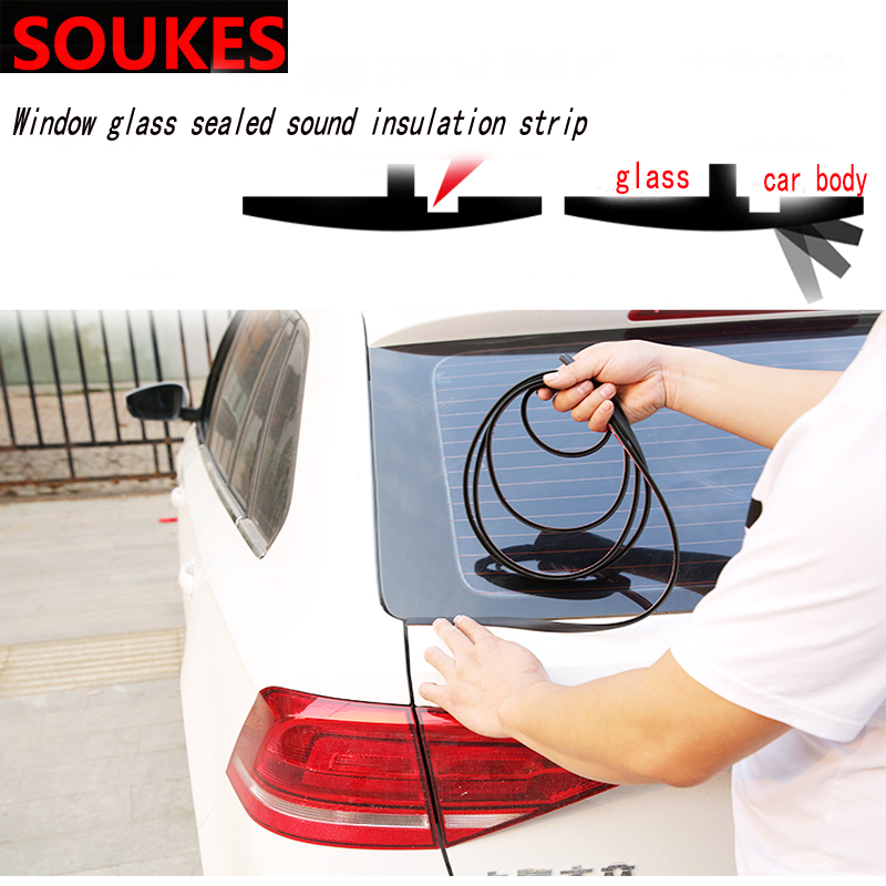 100cm Car Front Rear Window Windshield Soundproof Seal Strip For Renault Megane 2 3 Duster VW Touran Passat B6 Golf 7 T5 T4 Fiat in Car Stickers from Automobiles Motorcycles